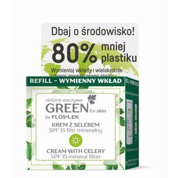 Floslek – Green for Skin Krem z selerem na dzień SPF15 - nawilżający REFILL - zapas (50 ml)