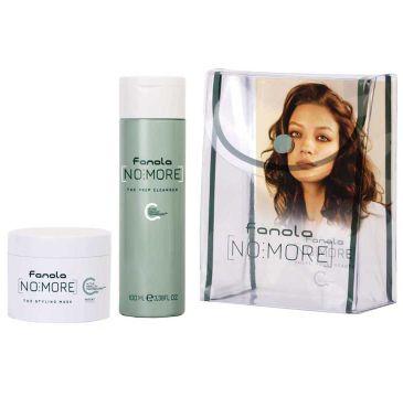 Fanola – No More Kit Travel zestaw szampon 100ml + maska 50ml + kosmetyczka (1 szt.)