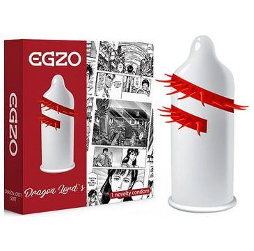 Egzo Dragon Lord's prezerwatywa z pieszczącymi kolcami Soft (1 szt. )