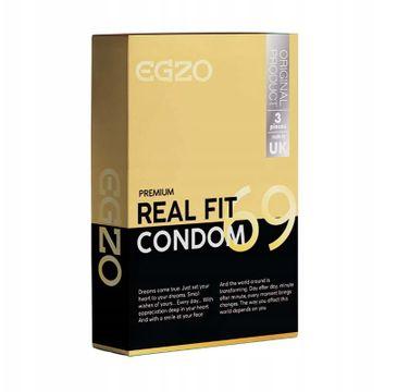 Egzo Traditional Condom prezerwatywy Real Fit (3 szt.)