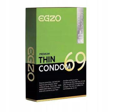 Egzo Traditional Condom prezerwatywy Thin (3 szt.)