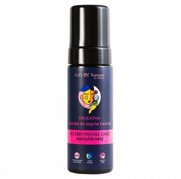 Gift Of Nature – Delikatna Pianka do mycia twarzy do cery naczynkowej (170 ml)