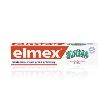 Elmex pasta do zębów dla dzieci Junior 6-12 lat DUO druga 50%  75 ml x 2