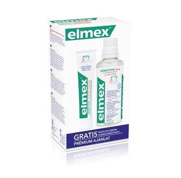 Elmex zestaw w kasecie Sensitive (płyn do płukania ust 400 ml + pasta do zębów 75 ml)
