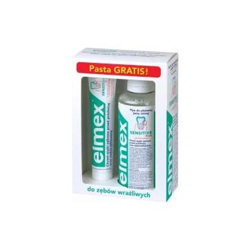 Elmex Sensitive Płyn do płukania jamy ustnej 400ml + Pasta do zębów Sensitive 75ml (1 szt.)