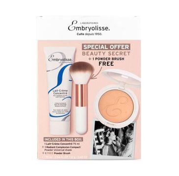 Embryolisse Parisian Glow zestaw prezentowy Lait Creme Concentre krem odżywczo-nawilżający 75 ml + Radiant Complexion Compact 12 g + Powder Brush