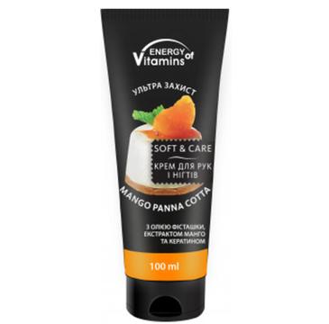 Energy Of Vitamins Krem do rąk i paznokci Mango Panna Cotta (100 ml)