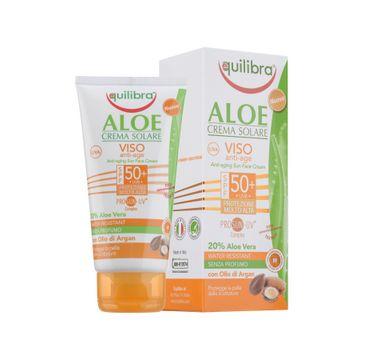 Equilibra Aloe Anti-Aging Sun Face Cream SPF50 aloesowy przeciwzmarszczkowy krem przeciwsłoneczny 75ml