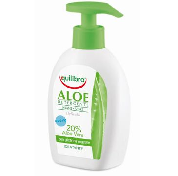 Equilibra Aloe Detergente Mani Viso aloesowy żel oczyszczający do twarzy i rąk (300 ml)
