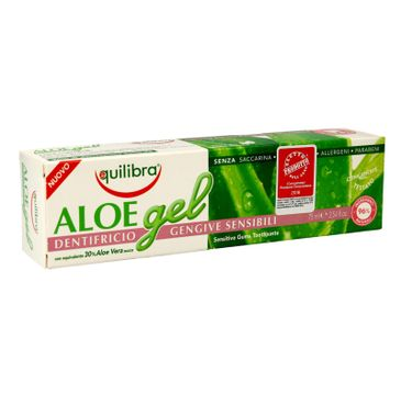 Equilibra Aloe Gel pasta do zębów 30% aloesu 75 ml