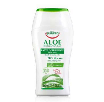 Equilibra Aloe Gentle Cleansing Milk aloesowe łagodne mleczko do demakijażu 200ml