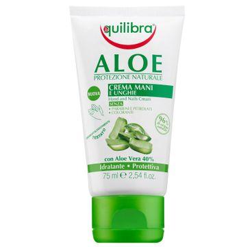 Equilibra Aloe Hand & Nail Cream aloesowy krem do rąk i paznokci (75 ml)