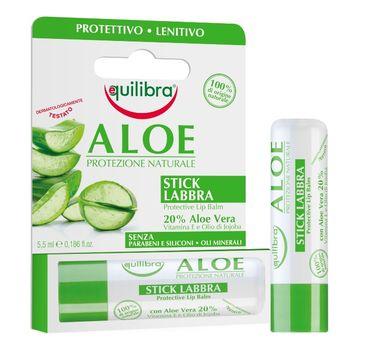 Equilibra Aloe Protective Lip Balm aloesowy sztyft do ust (5.5 ml)