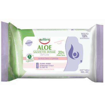 Equilibra Aloe Salviette Intime aloesowe chusteczki do higieny intymnej (12 szt.)