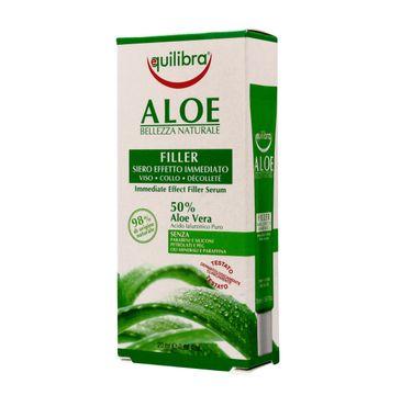 Equilibra Aloe serum wypełniające do twarzy,szyi i dekoltu 50% aloesu (20 ml)
