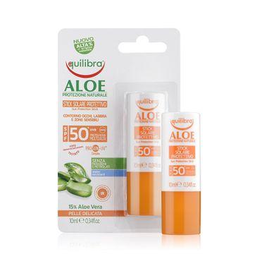 Equilibra Aloe Sun Protection Stick SPF50 aloesowy sztyft przeciwsłoneczny (10 ml)