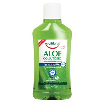 Equilibra Aloe Triple Action Mouthwash płyn do płukania jamy ustnej (500 ml)
