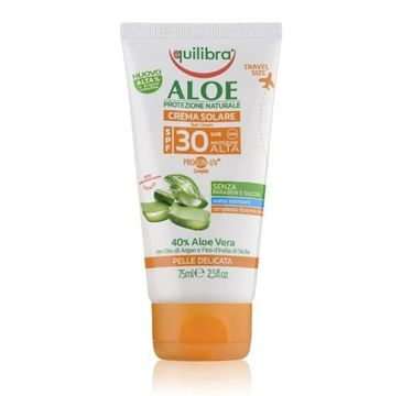 Equilibra – Aloesowy krem przeciwsłoneczny SPF 30 (75 ml)