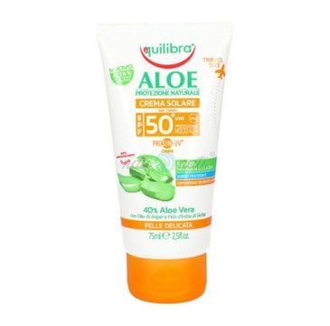 Equilibra – Aloesowy krem przeciwsłoneczny SPF 50 (75 ml)