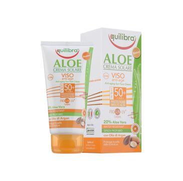 Equilibra Aloesowy krem przeciwsłoneczny SPF 50 anti age (75 ml)