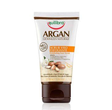 Equilibra Argan Exfoliating Face Scrub złuszczający peeling do twarzy 75ml