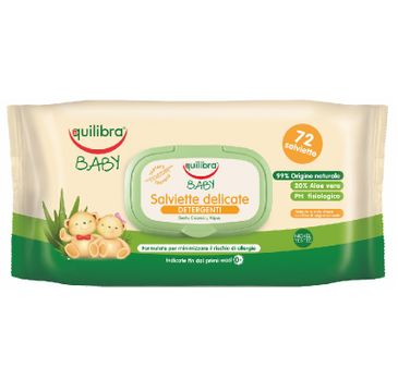 Equilibra Baby Gentle Cleansing Wipes delikatne chusteczki oczyszczające 0m+ (72 szt.)
