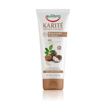 Equilibra Naturale odżywka do włosów suchych i zniszczonych z masłem shea 200 ml