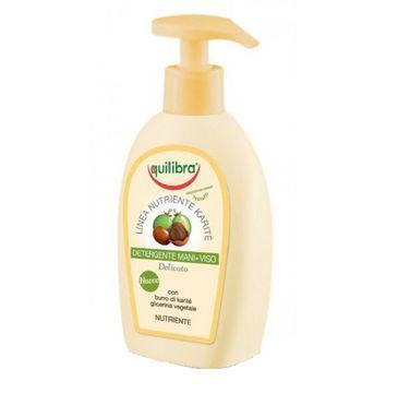 Equilibra Nutriente Karite Detergente Mani Viso żel oczyszczający do twarzy i rąk z masłem shea (300 ml)