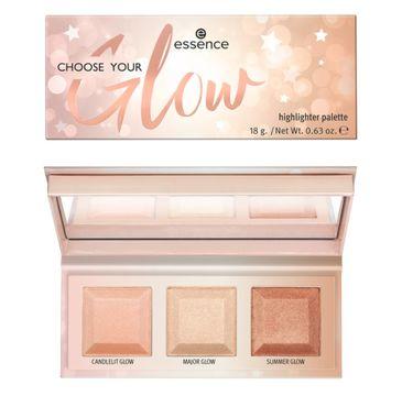 Essence Choose Your Glow Highlighter Palette paleta rozświetlaczy (18 g)