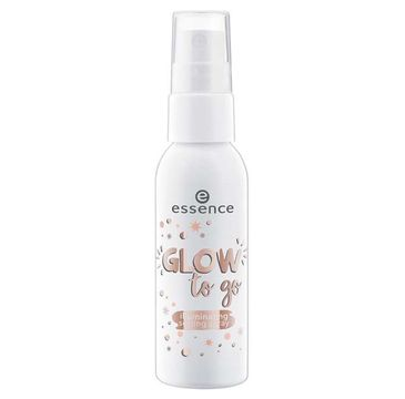 Essence Glow To Go Iluminating Setting Spray rozświetlający spray do utrwalania makijażu 50ml