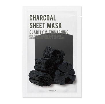 Eunyul Charcoal Sheet Mask oczyszczająca maseczka w płachcie z węglem (22 ml)
