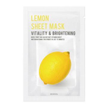 Eunyul Lemon Sheet Mask Vitality & Brightening rozjaśniająca maseczka do twarzy z cytryną (22 ml)