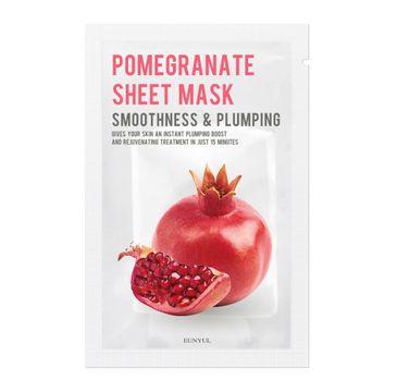 Eunyul Pomegranate Sheet Mask ujędrniająco-wygładzająca maseczka do twarzy z granatem (22 ml)