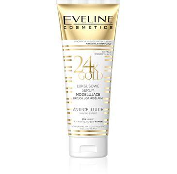 Eveline 24K Gold – luksusowe serum modelujące brzuch, uda i pośladki (250 ml)