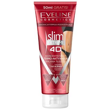 Eveline 4D Slim Extreme – skoncentrowany termo-aktywator spalania tłuszczu (250 ml)