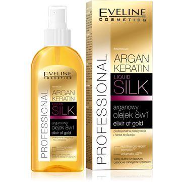 Eveline Argan & Keratin Liquid Silk – olejek nawilżający do włosów zniszczonych (150 ml)