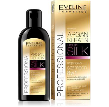 Eveline Argan & Keratin Liquid Silk – szampon arganowy do włosów zniszczonych (150 ml)