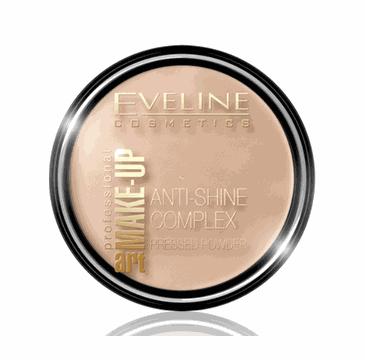 Eveline Art Make-Up – puder mineralny matujący z jedwabiem Warm Beige (14 g)