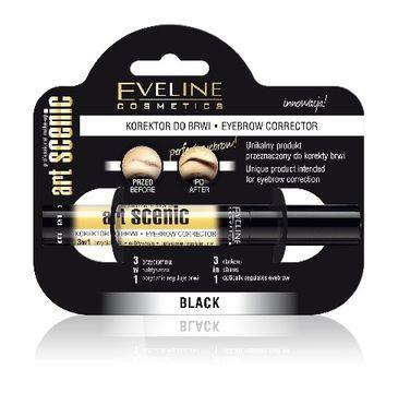 Eveline Art Scenic – korektor do brwi 3w1 Czarny (10 ml)