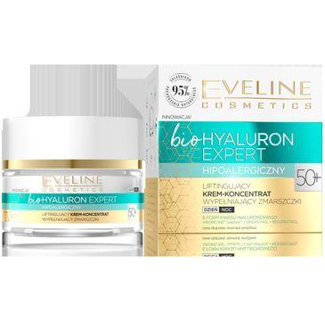 Eveline – Bio Hyaluron Expert Liftingujący krem-koncentrat wypełniający zmarszczki 50+(50 ml)