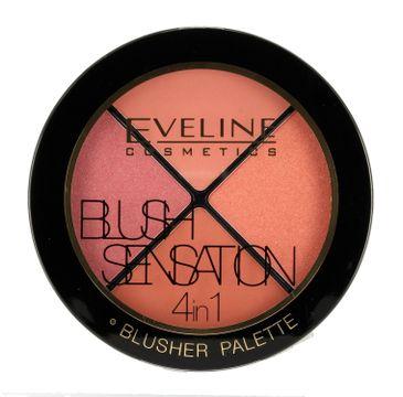Eveline Blush Sensation 4in1 – zestaw róży do twarzy (12 g)