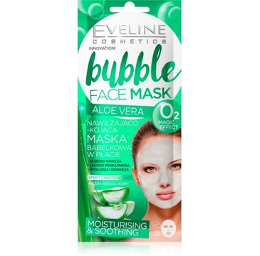 Eveline Bubble Face Mask Aloe Vera – maska bąbelkowa w płacie nawilżająco-kojąca (1 szt.)