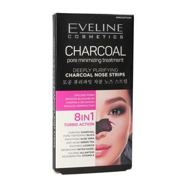 Eveline Charcoal – głęboko oczyszczające płatki na nos 8w1 (1 op.)
