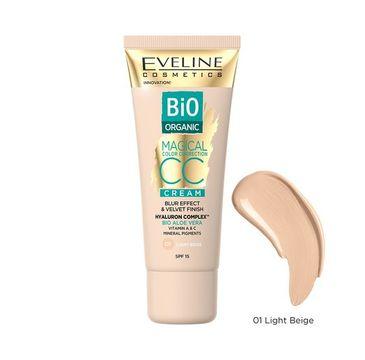 Eveline Cosmetics Bio Organic Magical Color Correction Cream krem CC z mineralnymi pigmentami 01 Light Beige (30 ml)