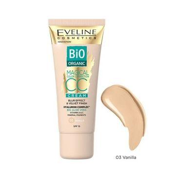 Eveline Cosmetics Bio Organic Magical Color Correction Cream krem CC z mineralnymi pigmentami 03 Vanilla (30 ml)