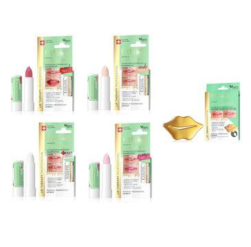 Eveline Cosmetics Lip Therapy Professional S.O.S. Expert zestaw maseczka do ust x 2szt + balsam do ust Tint Rose x 3szt + balsam do ust Tint Red x 4szt+ balsam do ust Tint Nude x 3szt + balsam do ust Care Formula x 3szt (1 szt.)