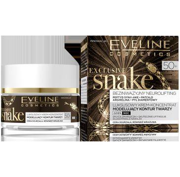 Eveline Exclusive Snake – krem-koncentrat modelujący kontur twarzy 50+ (50 ml)