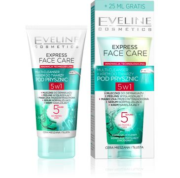 Eveline Express Face Care – multi-cleanser + krem do twarzy pod prysznic (100 ml)