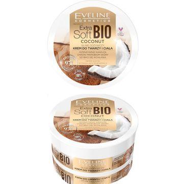 Eveline – Extra Soft Bio Coconut silnie odżywczy krem do twarzy i ciała (200 ml)