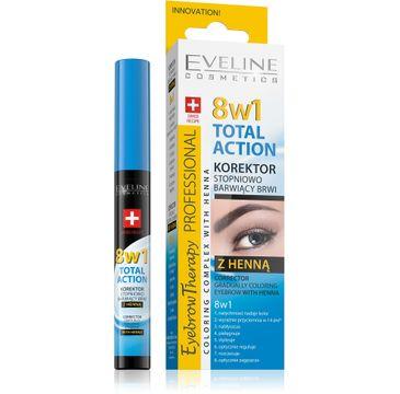 Eveline Eyebrow Corrector – korektor do brwi stopniowo barwiący Total Action 8w1 (10 ml)
